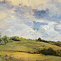 Landscape And Clouds  by Louis Antoine Leon Riesener