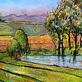 Landscape Art Scenic Fields by Blenda Studio
