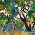Landscape At St Tropez  1 by Pg Reproductions