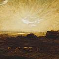 Landscape At Sunset by Marie Auguste Emile Rene Menard