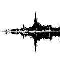 Landscape Black And White - Reflection by Daliana Pacuraru