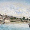 Landscape From Lake Leman To Nyon by Johan Barthold Jongkind