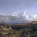 Landscape In Dauphine by Carlos de Haes