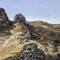 Landscape Near The Monastery Piedra by Carlos de Haes