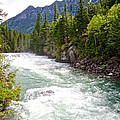 Landscape Of Mcdonald Creek Upstream In Spring In Glacier Np-mt by Ruth Hager