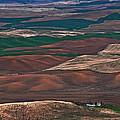 Landscape Of Rolling Farmland Steptoe Butte Washington Art Prints by Valerie Garner
