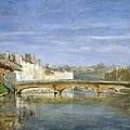 Landscape Oil On Canvas by Henri Rouart