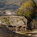 Landscape With A Barn, Shoreham, Kent by Samuel Palmer