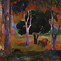 Landscape With A Pig And Horse by Mountain Dreams