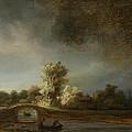 Landscape With A Stone Bridge by Rembrandt van Rijn