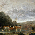 Landscape With Cattle by Anthonie van Borssom