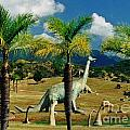 Landscape With Dinosaurs by John Malone