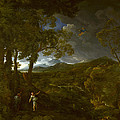 Landscape With Elijah And The Angel by Gaspard Dughet
