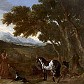 Landscape With Hermit Preaching To Animals by Gaspard Dughet