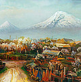 Landscape With Mountain Ararat From The Village Aintap by Meruzhan Khachatryan
