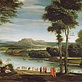 Landscape With St. John Baptising by Domenichino
