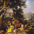 Landscape With The Ministry Of John The Baptist by Abraham Bloemaert
