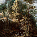 Landscape With The Temptation Of Saint Anthony by Roelant Savery