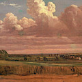 Landscape With Wheatfield Cornfield Under Heavy Cloud by Litz Collection
