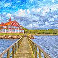 Landskrona Sea Shore Painting by Antony McAulay
