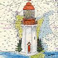 Langara Pt Lighthouse Bc Canada Nautical Chart Map Art by Cathy Peek