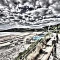 Langland Bay Painterly by Steve Purnell