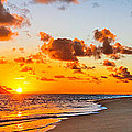 Lanikai Beach Orange Sunrise 3 To 1 Aspect Ratio by Aloha Art