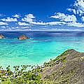 Lanikai Bellows And Waimanalo Beaches Panorama by Aloha Art