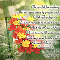 Lantana Greeting Card With Verse by Debbie Portwood