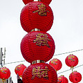 Lanterns On Lamp Post by Peter Oliver