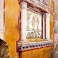 Lararium Of Family Altar, Seen In Situ by Luigi Bazzani