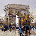 L'arc De Triomphe Paris by Eugene Galien-Laloue