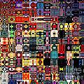Larg Blocks Digital - Various Colors I by Debbie Portwood
