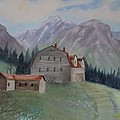 Large Barn On A Hill by June Weaver