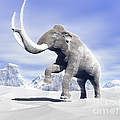 Large Mammoth Walking Slowly by Elena Duvernay