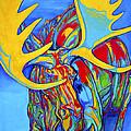 Large Moose by Derrick Higgins