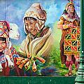 Large Mural In Cusco Peru Part 4 by Ralf Broskvar