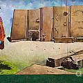Large Mural In Cusco Peru Part 7 by Ralf Broskvar