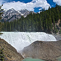 Larger View Of Wapta Falls In Yoho Np-bc by Ruth Hager