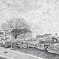 Larry Hill Vintage Car Lot by Byron K Snyder