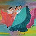Las Bailarinas De Costa Rica by Linda Feinberg