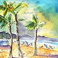 Las Canteras Beach In Las Palmas De Gran Canaria by Miki De Goodaboom