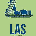 LAS Las Vegas Airport Poster 2 by Naxart Studio