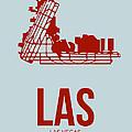 LAS Las Vegas Airport Poster 3 by Naxart Studio