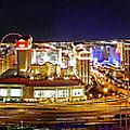 Las Vegas At Night - Panorama by Sheila Kay McIntyre