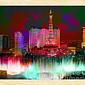 Las Vegas Bellagio Painting by Marvin Blaine