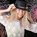 Las Vegas Fireworks Party Woman by Gunter Nezhoda