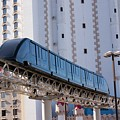 Las Vegas Monorail And Excalibur Hotel by Mark Williamson/science Photo Library