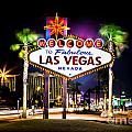 Las Vegas Sign by Az Jackson