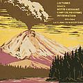 Lassen Travel Poster 1938 by Mountain Dreams